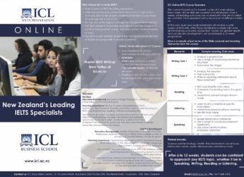 ICL Online IELTS brochure