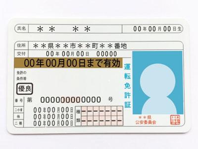 <b>免許証書き換え</b>